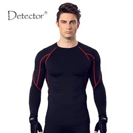 running stretch tight Australia - Detector Sports T-Shirt Mens Running Tights Basketball Fitness Breathable Quick-Drying Stretch Tops