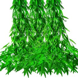 vines leaf UK - 50 X 1.9M Ivy Artificial Plant Artificial Vine Garland Leaf Vine Plants LnThree Outdoor Willow Willow Plants Garland