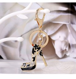 acrylic photo key chains Australia - Shoes Keychain Purse Pendant Bags Cars Shoe Ring Holder Chains Key Rings For Women Gifts Women acrylic High Heeled