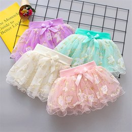 $enCountryForm.capitalKeyWord Australia - INS Designs Little Girls Summer Leaf Gilding Gauze Skirt Short Dance Skirt Baby Girls TUTU Skirts Princess Party Wear Lovely Child Clothing