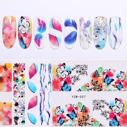 pattern decor Australia - Nail Water Decals Transfer Stickers Nail Accessories Flower Butterfly Patterns Art Decorations Slider Wraps Tips Decor