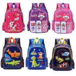 $enCountryForm.capitalKeyWord NZ - Surprise Girls 3D Backpack Kids Unicorn Baby Shark Cartoon Shoulder Bag Kindergarden Book Bag Boys Girls Decompression Schoolbag B71804