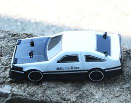 Discount remote control off road vehicles - 1:24 4WD drive rapid drift car Remote Control Car AE86 model 2.4G Radio Control Off-Road Vehicle RC Drift toy