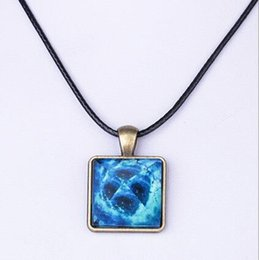 Alloy pyrAmid online shopping - Europe and the United States hot sale star pyramid luminous crystal pendant tide cool men and women dreamy luminous necklace