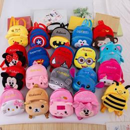 $enCountryForm.capitalKeyWord Australia - cartoon plush backpack Funny joy cute kids school bag toy mini stuffed bagpack Children's gifts boy girl baby student bags lovely wallet