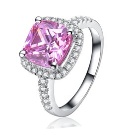 $enCountryForm.capitalKeyWord UK - Hot Sell Real 925 Silver Ring 3.0Ct Synthetic Diamond Ring White Gold Plated Square Ring Radiate A Brilliant Light The Best Gift For Woman
