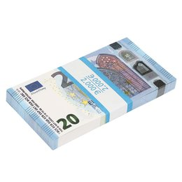 China Wholesale 20 notas de euro Realistic Motion Picture Money Full Print 2 lados para crianças, estudantes, filme on Sale