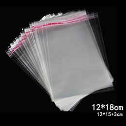 clear plastic jewelry bags wholesale 2019 - 500pcs 12*18cm Plastic Bags Packaging Self Adhesive Seal Clear Pack Jewelry Gift Bag Candy Cookie Poly Kitchen Accessori