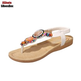 2a11ca2a697d26 bohemia thong sandals handmade beads string vintage beach flats sandal flip  flops comfort walking shoes ethnic gladiator sandals