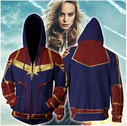 $enCountryForm.capitalKeyWord Australia - 3D Printed Captain Marvel Carol Danvers Ms Marvel Costumes Hoodies Sweatshirts Tracksuit Casual Zipper Hooded Jacket Clothing