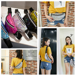 bags fish scale Australia - Hot 5 style fish-scale sequin outdoor Waist Bags fashion single-shoulder bag girl laser mini Storage BagsT2D5018