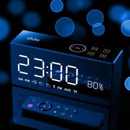 Telephone Audio Australia - Dido X9 wireless Bluetooth speaker mirror HiFi shock sound alarm clock two-way telephone