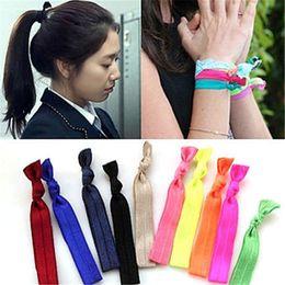 Hair Wristbands Australia - 2019 fold over elastic hair ties bracelet wristbands baby girl ponytail holder Hair Accessories baby girl headband bow free shipping K0013
