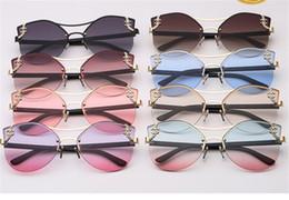 Glasses Brand Names Australia - New European and American brand name fashion sunglasses metal-encrusted diamond frameless copy piece lady sunglasses