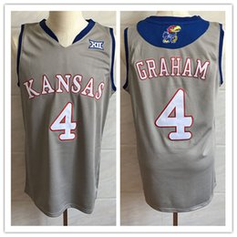 11a9514fa0a ku basketball jerseys 2019 - Kansas Jayhawks KU College #4 Devonte Graham  Blue Grey Retro