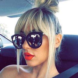 womens black cat eye sunglasses 2019 - Vintage Womens Fashion Oval Mirror Sunglasses Brand Designer Retro Ladies Sun Glasses for Women Female Eyewear UV400 dis