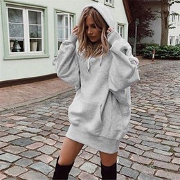 loose turtleneck hoodie 2019 - Turtleneck Thicker Women Fashion Solid Color Clothes Hoodies Pullover Coat Hoody Sweatshirt for Women Plus Size S to XL