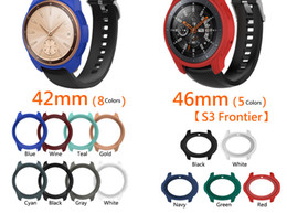samsung s4 smart watch UK - 42mm 46mm Silicone Frame Protective Case Cover Shell For Samsung Gear S3 Classic S4 Galaxy Watch