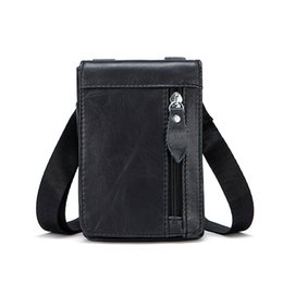 genuine leather man bag small Australia - 2018 Business Men Messenger Shoulder Bags Real Genuine Leather Small Crossbody Totes Mini Flap Belt Waist Packs Handbag