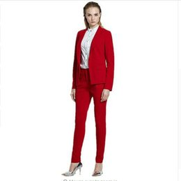 $enCountryForm.capitalKeyWord UK - Women's Casual Suit ladies suit red western style business high quality single breasted women suits jacket+pants