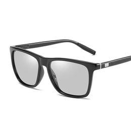 Photochromic Night Driving Sunglasses UK - Luxury-Designer Photochromic Sunglasses Men Polarized Chameleon Glasses Male Change Color Sun Glasses HD Day Night Vision Driving Eyewear