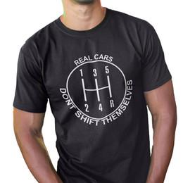 $enCountryForm.capitalKeyWord Australia - Eu Size Cotton Car T Shirt Funny Print Tee Don't Shift Themselves High Quality T-shirt Men Soft O-neck Humor Tshirt