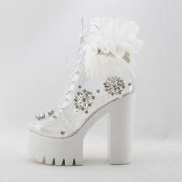 $enCountryForm.capitalKeyWord NZ - White Crystal Cross-Strap Sandals Woman Classic Bling Comfortable Sandal Boot Summer Stylish High Heel 5-8cm Ladies Dress Pumps
