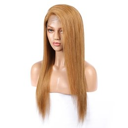 $enCountryForm.capitalKeyWord Australia - Morein 27# Wine-red Straight Full Lace Wig With Baby Hair Preplucked Brazilian Virgin Human Hair Lace Front Wigs