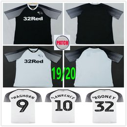 Rooney jeRsey online shopping - 2019 Derby County Soccer Jerseys Rooney LAWRENCE WAGHORN DOWELL PATERSON Custom Home Away Adult Kids Football Shirt