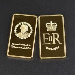 $enCountryForm.capitalKeyWord Australia - 1 Oz 24k Gold German bar ER Queen Elizabeth II COIN 999 1000 Eagle bullion bar Free shipping 50pcs lot