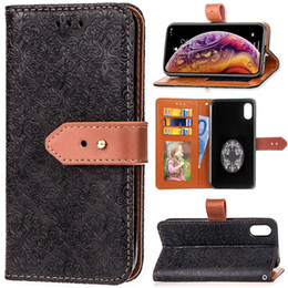 Card Euro NZ - PU Leather Case Cover For iPhone XS MAX Noble Euro Fresco Style with Wallet Card Pocket Hand Strap Snap Clip 102 Models for Option