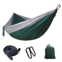 $enCountryForm.capitalKeyWord Australia - Lightweight Nylon Parachute Fabric Hammock With Steel Hooks Travel Hiking Backpacking Camping Hiking Double leisure swing 300*200cm