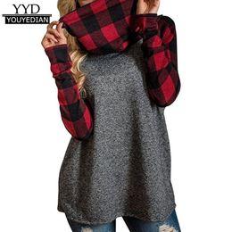 $enCountryForm.capitalKeyWord UK - Womens Turtleneck Causal Loose Long Sleeve Plaid Patchwork Tshirts Tunic Pullover Tops Women Clothes Autumn Winter 2017 #1120 C19041702
