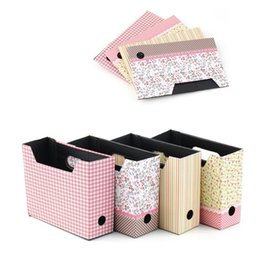 Folding Pens Australia - 1pc Desk Office Organizer Paper Box Pens Cosmetic Makeup Storage Box Sundries Boxes Portable Folding Storage Space Saver