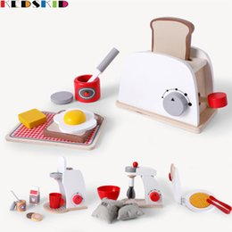 $enCountryForm.capitalKeyWord NZ - Wooden Bread machine, coffee machine, blender, pancake machine Girl Simulated Tableware Cooking Kitchen Toys Set
