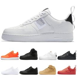 shoe box sales UK - Hot Sale Dunk utility Men Women Running Shoes all Black White Sports Skateboarding High Low Cut Wheat Brown Trainers Sneakers size 36-45