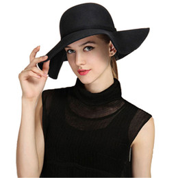 Womens Summer floppy hat good beach caps Polyester Felt Crushable Wide Brim  Cloche Floppy Hat Summer Sun Lady Beach Cap c914db21358
