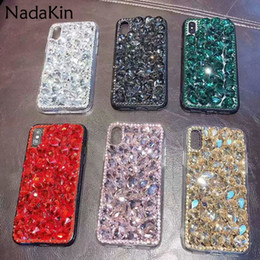 $enCountryForm.capitalKeyWord Australia - Bling Diamond Back Case for Huawei Honor 8 9 6X 7X 8X 5C 6C V8 V9 Play Magic Luxury Glitter Rhinestone Fitted Cover Shell