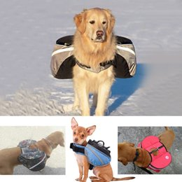 Blue | Dog Backpack Dog Pack Hound Viaggi Trekking Zaino Borse laterali / Morale Servizio Dog Patch per Pet Tattico Harness Vest on Sale