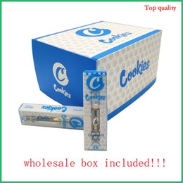 Wholesale sell cookies for sale – custom Pyrex Glass Tank empty vape Cookies Cartridges Vaporizer ml vape pen Atomizer E cig Best Taste hot selling