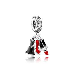 $enCountryForm.capitalKeyWord Australia - NEW 100% 925 Sterling Silver 1:1 792156ENMX LIPSTICK, DRESS AND STILETTO HANGING Original Women Wedding Fashion Jewelry