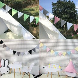 Pack Supplies Australia - Fashion Colorful Kids Room Bunting Decor Baby 12 Flags 2.5M Birthday Party Pennant 1 Pack Nonwovens Wedding Home Decoration