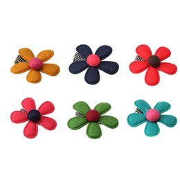 flower headdress for babies Canada - M Mism New Baby Hair Ornaments Flower Headwear Hairpins For Children Hair Accessories Barrettes Kids Girls Headdress Hair Clip