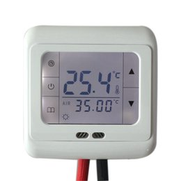 $enCountryForm.capitalKeyWord UK - 16A Digital Touch Screen Floor Heating Thermostat Room Warm Temperature Controller Auto Control with LCD Backlight