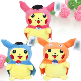 "9/"" Gyarados Pikachu # 25 Pokemon Plush Dolls Toys Stuffed Animals Blue Dragon"