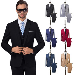 Boutique Dresses Suits Australia - 2 Pcs Mens Fashion Plaid Boutique Formal Business Suit Jackets Men Groom Wedding Dress Suit Coats Mens Casual Blazers