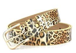 Discount unique belts - Women Leopard Print Belts Unique Design Cowhide Waist Strap Lady Winter Classic Fashions Belt Hip Hop Split Leather Belt