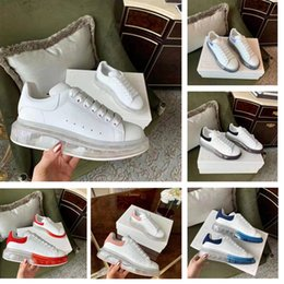 Crystal Clay online shopping - 2019 new designer shoes men s and women s leather casual enhanced thick transparent crystal air cushion bottom