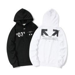 bd0c22ad6b45 Diseñador suéter con capucha todo religioso nueva flecha básica hombres y  mujeres camisa delgada blanca y negra