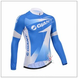 compressed t shirts UK - 2019 GIANT team Cycling Long sleeve Jersey Rope Men's Outdoors MTB Running Bicycle NEW T-Shirt Riding Bike Clothes Sportwear 61311